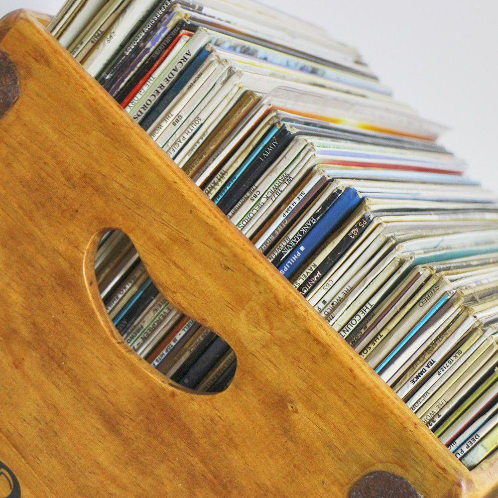 Northern Soul Record Box Large 80 12 LP s Wooden Vinyl Album